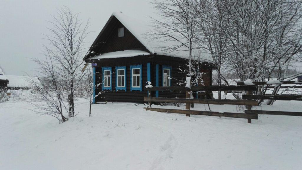д. Яблонка Лысковский район Зима