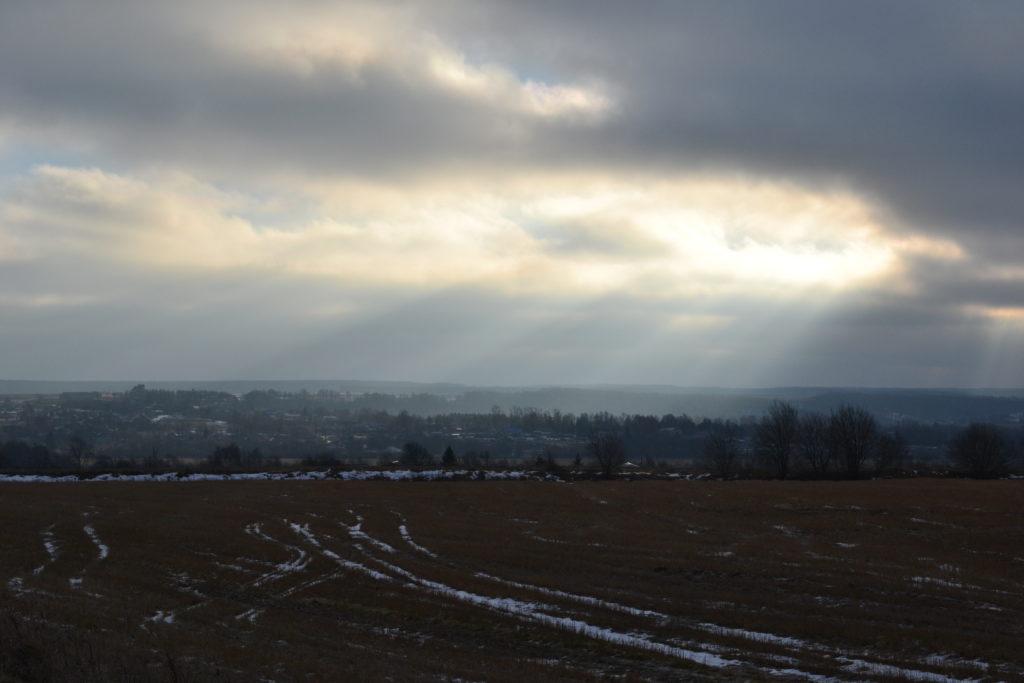 село Берендеевка Вид из далека