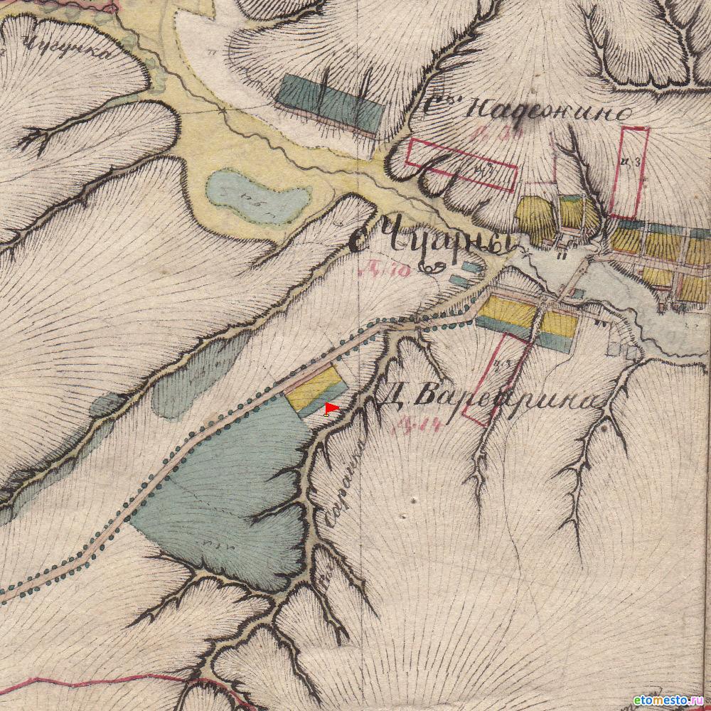 деревня Варварино на картах Менде 1850 года.