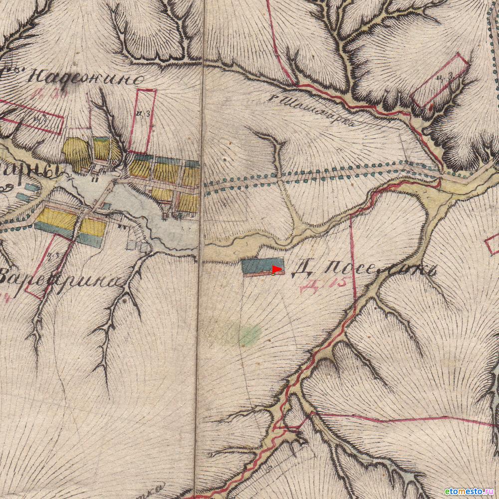 деревня Калитка. Воротынский район. На картах менде 1850 год
