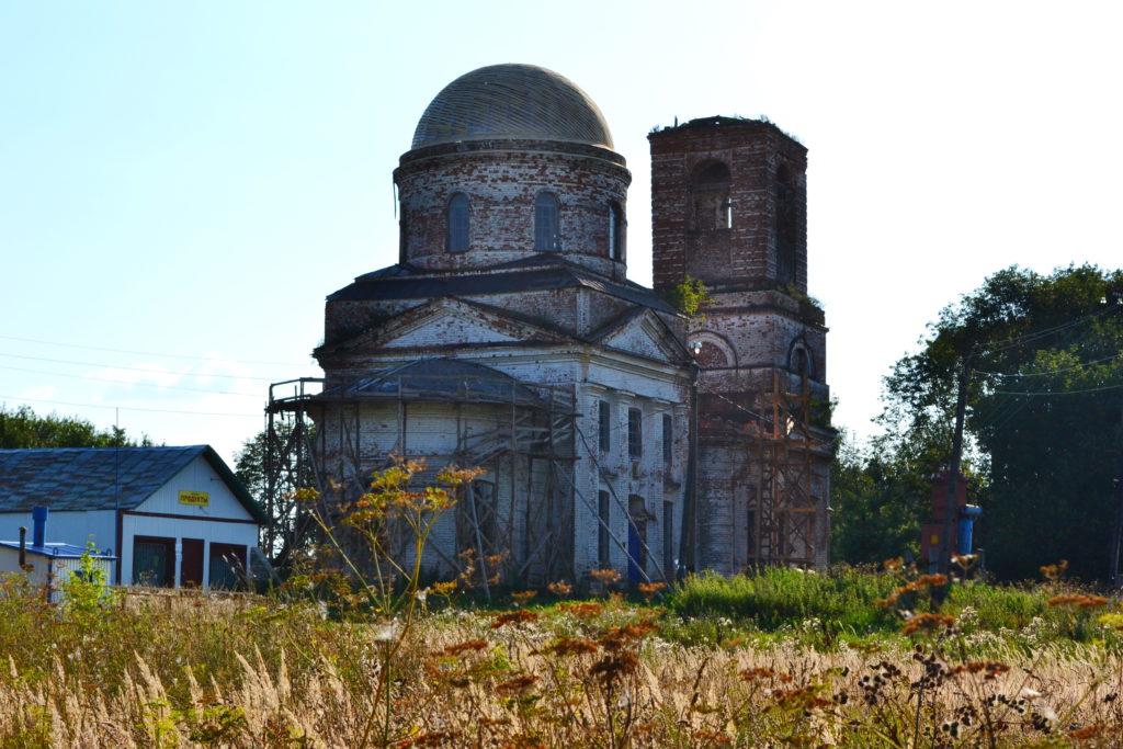 Плотинское.Церковь. Лысковский район.