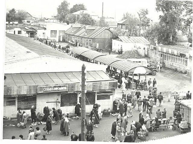 Рынок г. Лысково. Старое фото.