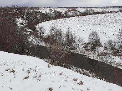 деревня Баранниково река сундовик зимой